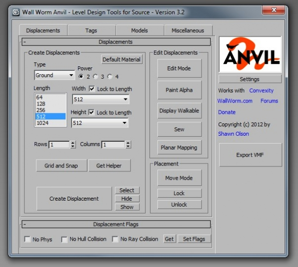 Anvil User Interface