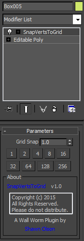 Snap Vertices to Grid Modifier
